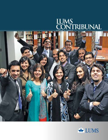 LUMS CONTRIBUNAL - Lahore University of Management Sciences