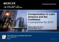 Compensation in Latin America and the Caribbean (PDF) - Mercer ...