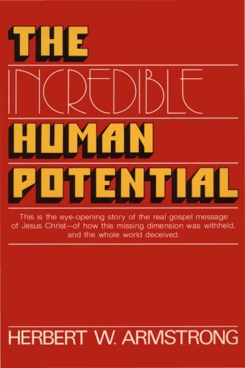 The Incredible Human Potential PDF - Church of God Faithful Flock