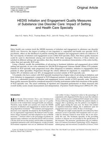 HEDIS Initiation and Engagement Quality Measures of Substance ...