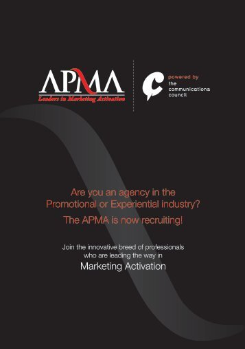 Download APMA brochure - The Communications Council