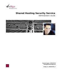 Shared Hosting Security Service - VeriSign