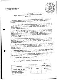 Referat de aprobare privind rectificarea bugetului local al ...
