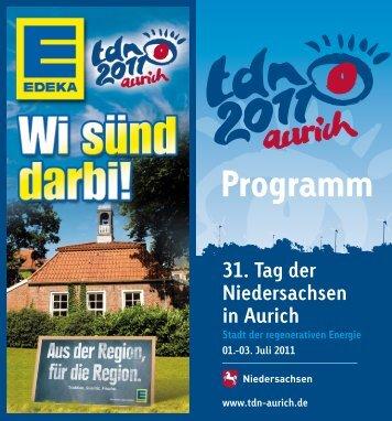 Programm - 31. Tag der Niedersachsen in Aurich