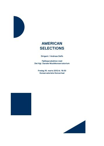 American Selections / 16. marts 2012 - Copenhagen Phil