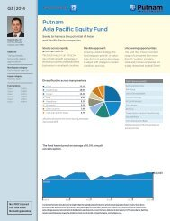 Asia Pacific Equity Fund Fact Sheet - Putnam Investments