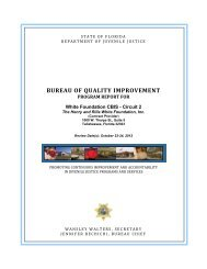 bureau of quality improvement - Florida Department of Juvenile Justice