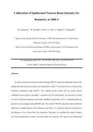 Calibration of Epithermal Neutron Beam Intensity for Dosimetry at ...