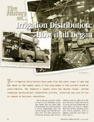 The History of Irrigation Distribution-Magazine ... - Irrigation Direct