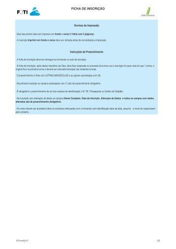 Ficha Inscrição - Portal do Cidadão