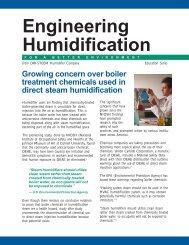Engineering Humidification - DRI-STEEM