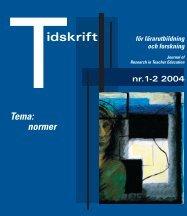 Tidskrift för lärarutbildning och forskning 1-2/2004 - Umeå universitet