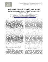 Performance Analysis of Extended Kalman filter and ... - Ijcns.com