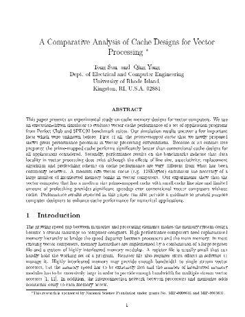 Â¡omparative nalysis of Â¡ache 9esiCns for Hector ProcessinC X T`nc ...