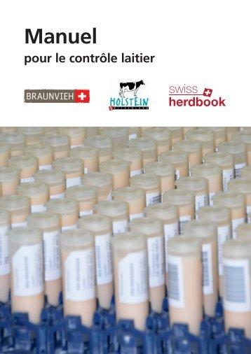 Manuel pour le contrôle laitier - Swissherdbook