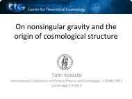 On nonsingular gravity and the origin of cosmological structure