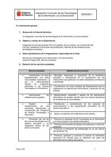Integración Curricular de las Tecnologías de la Información y la ...