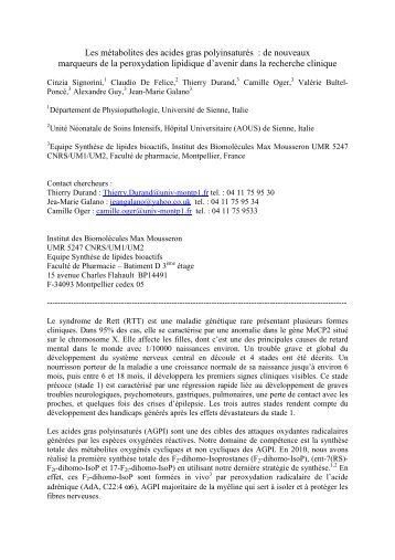 Résumé communication Rett 22032012 - Institut des Biomolécules ...
