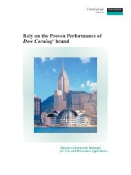 Rely On The Proven Performance Of Dow Corning Brand