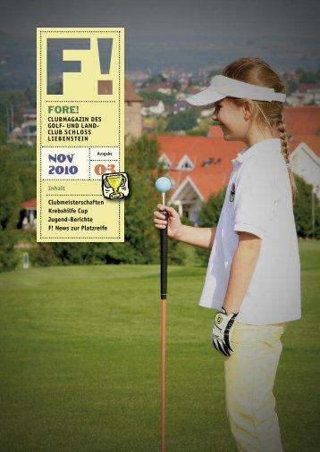 NOV 2010 FORE! - Golfclub Schloss Liebenstein