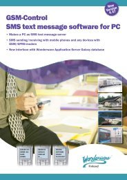 GSM-Control SMS text message software for PC - Klinkmann.