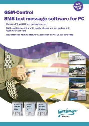 GSM-Control SMS text message software for PC - Klinkmann.