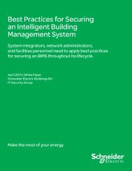 Best Practices for Securing an Intelligent ... - Schneider Electric