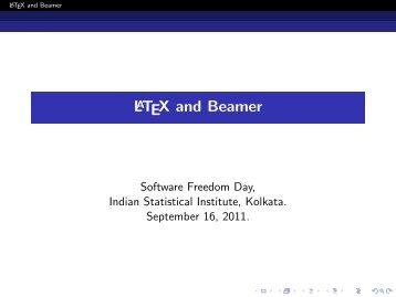 LATEX and Beamer (Arijit Bishnu). - Indian Statistical Institute