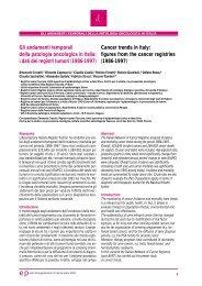 Gli andamenti temporali della patologia oncologica in Italia: i dati dei ...