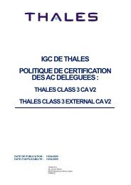 igc de thales politique de certification des ac ... - Thales Group