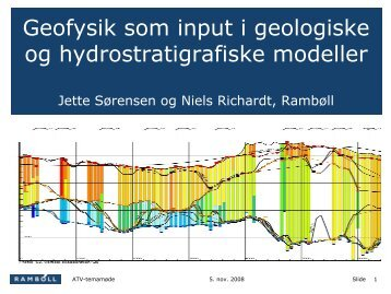 Opstilling af geologiske modeller; specielt erfaringer med geofysik