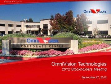 OmniVision Shareholder Presentation