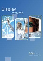 Flyer über unsere Display Systeme - DSM Computer