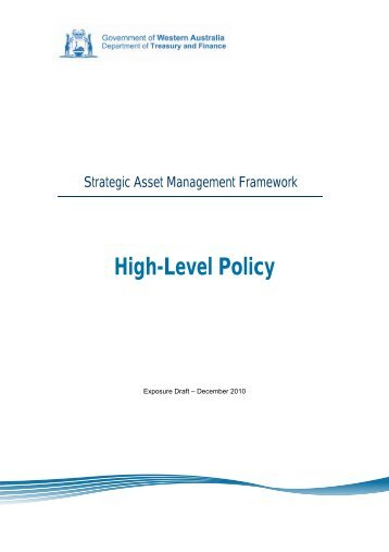 SAMF - High-Level Policy - Department of Treasury