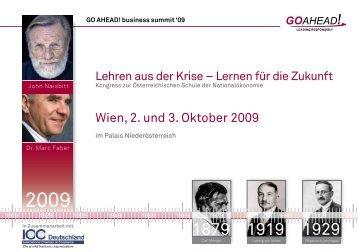 Wien, 2. und 3. Oktober 2009 - ICC Deutschland