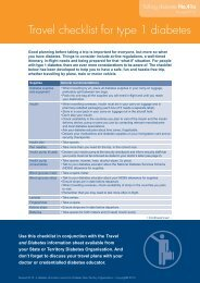 Type 1 diabetes and travel - Australian Diabetes Council