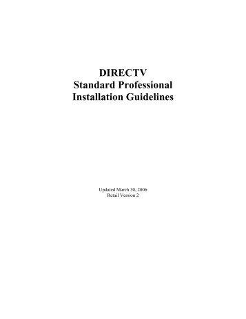 DIRECTV Standard Professional Installation ... - DBSInstall.com