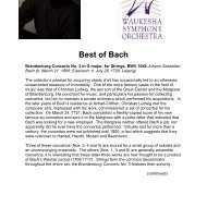 Best of Bach - Wisconsin Philharmonic
