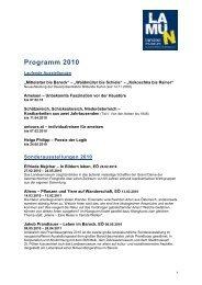 Programm 2010 - Landesmuseum Niederösterreich