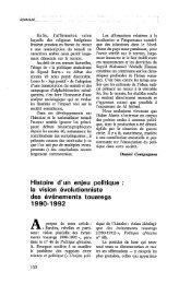 Histoire d'un enjeu politique : La vision ... - Politique Africaine
