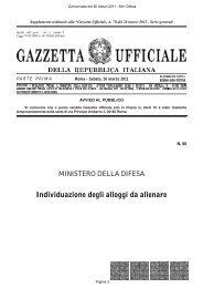 Individuazione degli alloggi da alienare - Aeronautica Militare Italiana