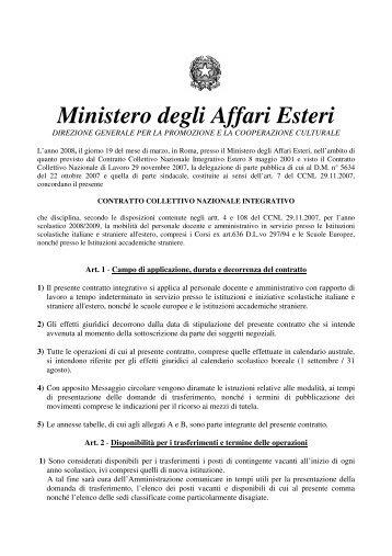 Ministero degli Affari Esteri - CISL Scuola