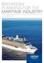 BATHROOM PlAnning FOR THe maritime industry - GROHE