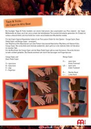 Tipps & Tricks - die Cajon im Afro Beat