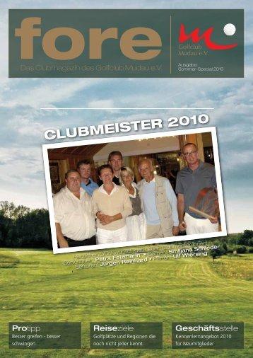 CLUBMEISTER 2010 - Golfclub Mudau eV