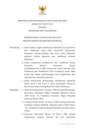peraturan menteri kesehatan republik indonesia nomor 007 ... - JDIH