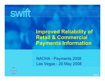Improved Reliability of Retail & Commercial Payments Information