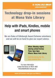 Technology drop-in sessions at Mona Vale Library Help with iPads ...