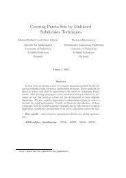Covering Pareto Sets by Multilevel Subdivision Techniques