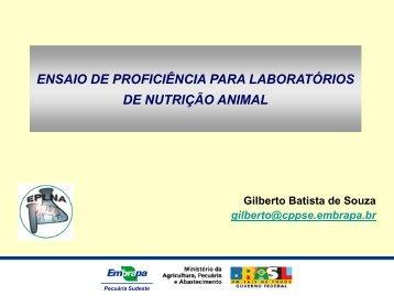 ensaio de proficiência para laboratórios de nutrição animal